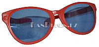 Большие карнавальные очки (красные с синими стеклами) синий