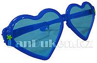 """Огромные карнавальные очки """"Сердечки"""" (с синей оправой)"""