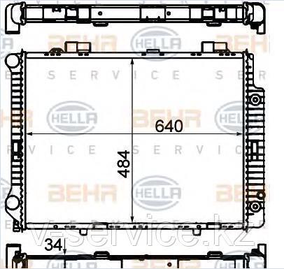 Радиатор W210(M104)(210 500 09 03)(NISSENS 62666 A)