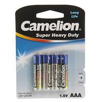 Солевая батарейка Camelion Super Heavy Duty, AAA, R03-4BL, блистер, 4 шт. (комплект из 7 шт.)