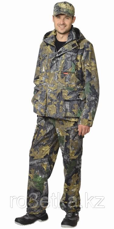 """Костюм """"ВОЛК"""" летний: куртка, брюки ( тк.Алова ) КМФ """"Темный лес"""" Камуфляжная одежда для охоты и рыбалки"""