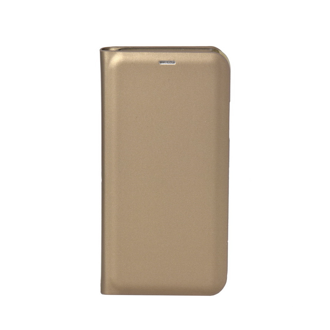 Чехол для Apple iPhone X book cover Clear View Standing Cover Gold