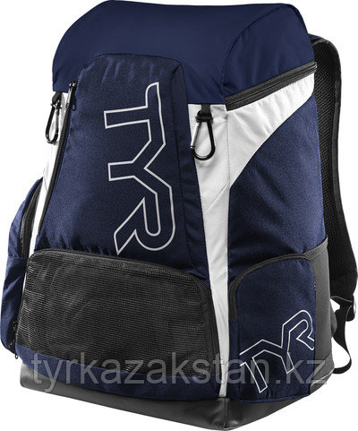Рюкзак TYR Alliance 45L Backpack цвет 112 Синий/Белый