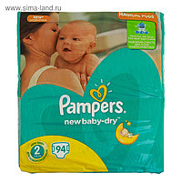 Подгузники Pampers New Baby-dry, Mini 2 (3-6 кг), 94 шт.