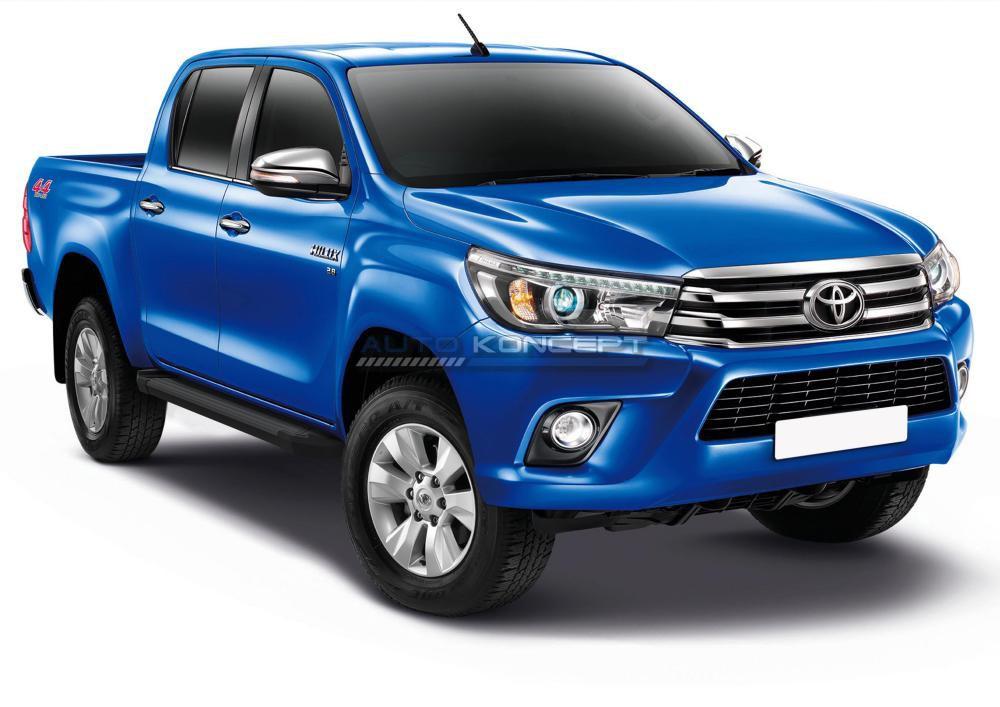"Порог-площадка ""Black""  Toyota Hilux 2015-"
