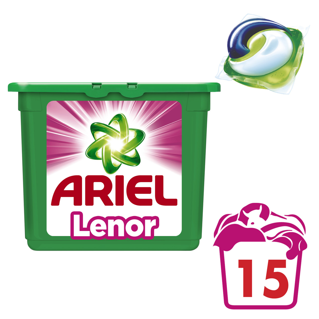 Капсулы для стирки Ariel PODS Touch of Lenor Fresh 15 шт.