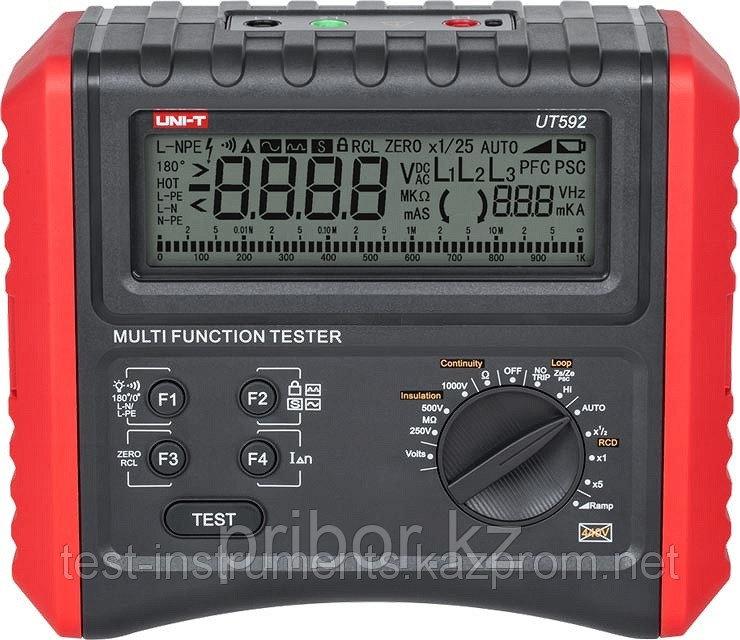 UT592   прибор для измерения и проверки параметров электробезопасности. Внесён в реестр РК