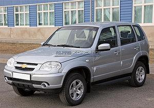 "Порог-площадка ""Black"" Chevrolet Niva 2009-"