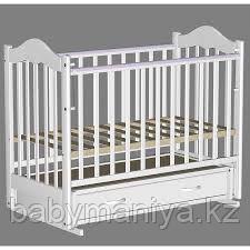 ВЕДРУС Кровать детская КИРА 4 (ящик маятник накладка) Белая