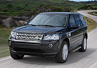 "Порог-площадка ""Black"" Land Rover Freelander 2010-2012"
