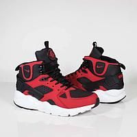 Кроссовки Nike Air Huarache City Mid Lea Black Red White