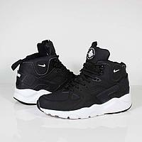 Кроссовки Nike Air Huarache City Mid Lea Black White