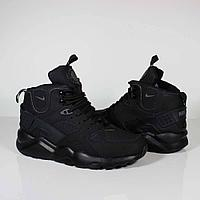 Кроссовки Nike Air Huarache City Mid Lea Triple Black