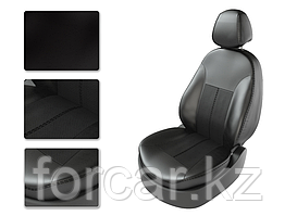 Чехлы модельные KIA RIO 4 с 2011 SD дел черный/черный/черный  CarFashion
