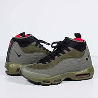 Кроссовки Nike Air Max 95 Sneakerboot Olive Green Black , фото 1