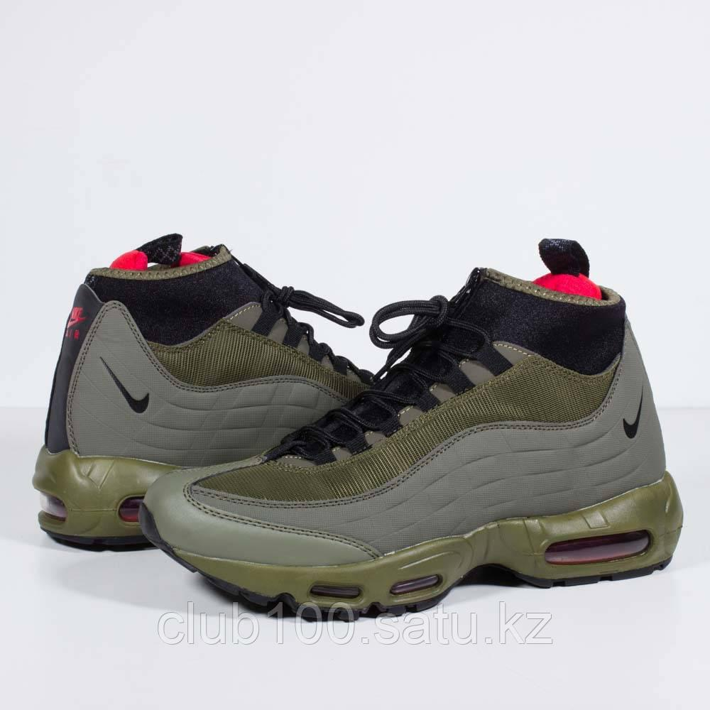 check out db4f2 de42f Кроссовки Nike Air Max 95 Sneakerboot Olive Green Black