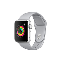Apple watch series 3 42mm aluminum case with sport band silver