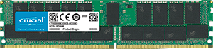 Оперативная память Crucial DRAM 32GB DDR4 2666 MT/s (PC4-21300) CL19 DRx4 ECC Registered DIMM 288pin CT32G4RFD