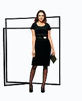 Платье-футляр из бархата