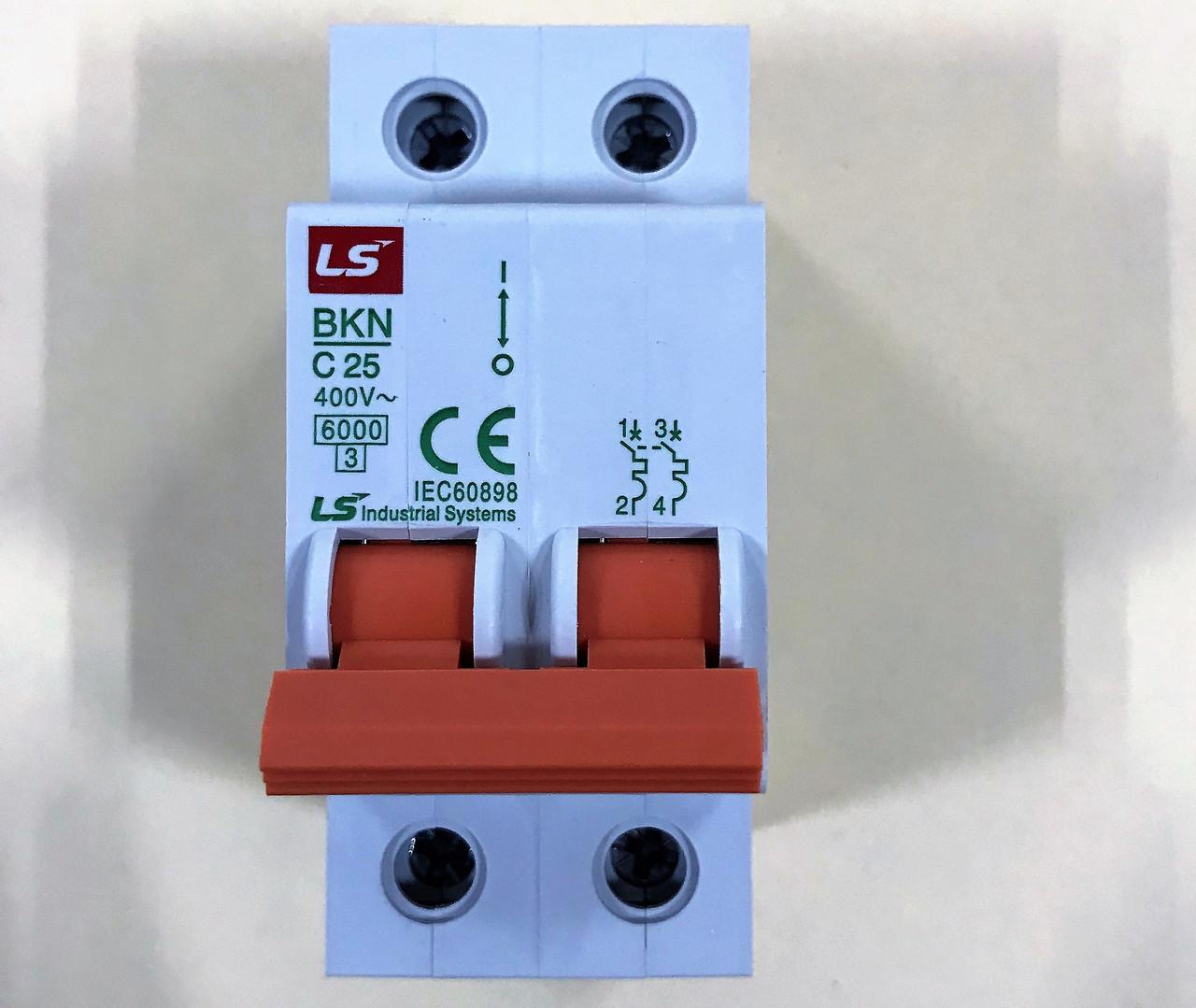 Автоматический выключатель BKN 2P C25
