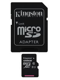 Карта памяти MicroSD 128GB Class 10 U1 Kingston SDC10G2/128GB