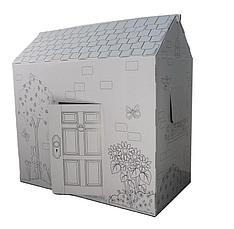 Картонный домик раскраска, фото 2