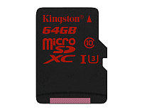 Карта памяти MicroSD 64GB Class 10 U3 Kingston SDCA3/64GBSP