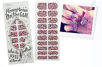 THE FACE SHOP Наклейки для ногтей декоративные LOVELY MEEX CHARMING STICKER NAILS 03 PINK CHEETAH