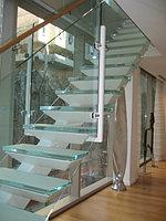 Стеклянные ограждения для лестницы, фото 1