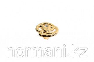 Ручка-кнопка, отделка золото глянец + горный хрусталь