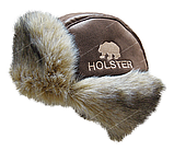 Шапка ушанка Хольстер кож зам (коричневый) р.59-60, фото 2