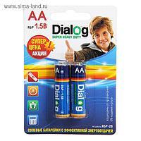 Солевая батарейка Dialog, АА,  R6P, блистер, 2шт.