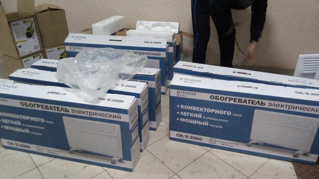 Доставили клиенту Конвектора YIKA СHE 2000 (электронное управление) и Тепловые пушки Ballu BHP-PE 3