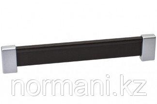 Ручка-скоба 160 мм, отделка хром матовый лакированный + венге