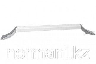 Ручка-скоба 448 мм, отделка хром глянец + белый матовый