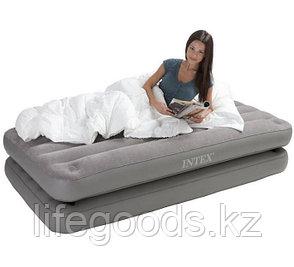 Односпальная надувная кровать - матрас 2 в 1, Intex 67743, фото 2