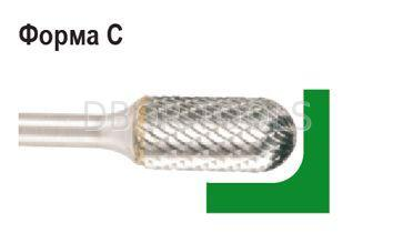 Борфреза форма C  сферическим концом, диаметр головки 12мм