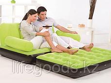 Надувной диван-трансформер с велюром, 3 цвета, Bestway 67356, фото 2