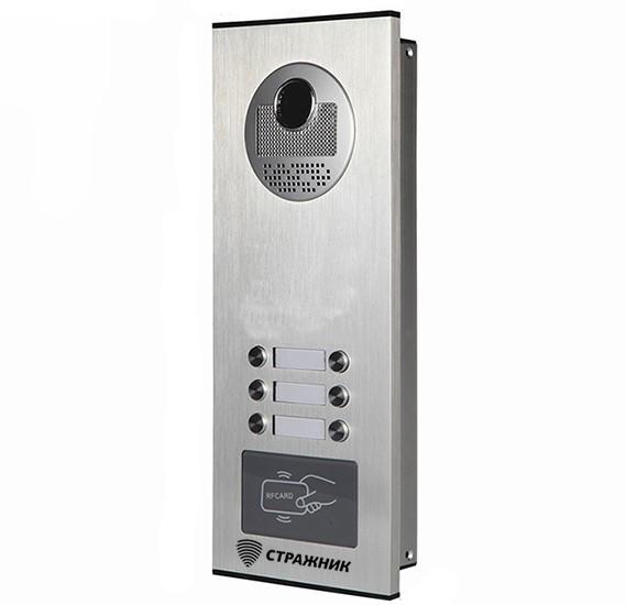 Вызывная панель видео домофона Стражник RFID 520-3, 3-абонентская