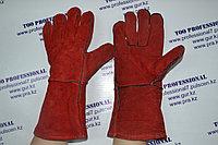 Перчатки сварщика спилковый, фото 1