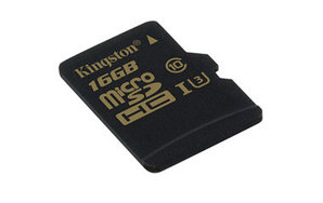 Карта памяти MicroSD 16GB Class 10 U3 Kingston SDCG/16GBSP