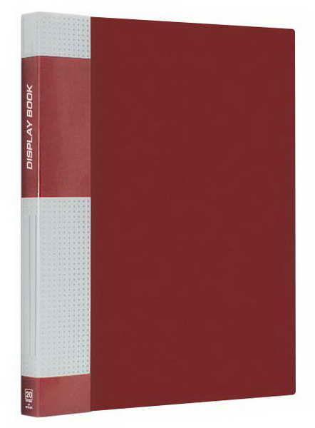 Папка пластиковая Berlingo с металлическим зажимом красная