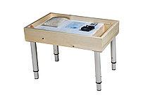 Стол для песочной анимации с отсеком, (цветная LED подсветка + песок в комплекте) + ножки! (размер на выбор)