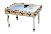Стол для песочной анимации ДЕКУПАЖ 54см*74см (цветная подсветка + 1 кг песка в комплекте) + ножки!