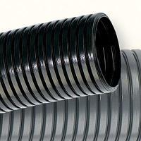 Труба гофр. DN29мм, ПВ-2, Dвн 28,3 мм, Dнар 34,5 мм, полиамид 6, цвет чёрный, с протяжкой