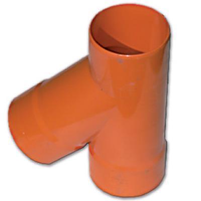 Тройник для двустенных труб,90 ,полипропилен,д.200, фото 2