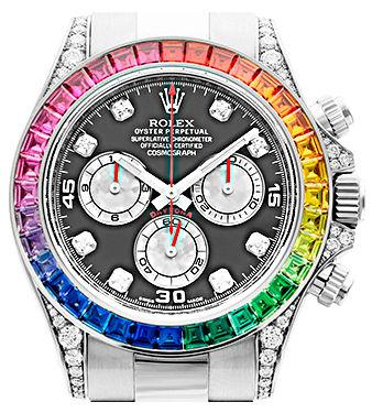 Наручные часы Rolex White Gold Daytona Rainbow
