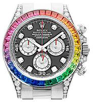 Наручные часы Rolex White Gold Daytona Rainbow, фото 1