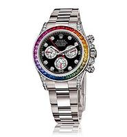 Часы Rolex White Gold Daytona Rainbow, фото 1