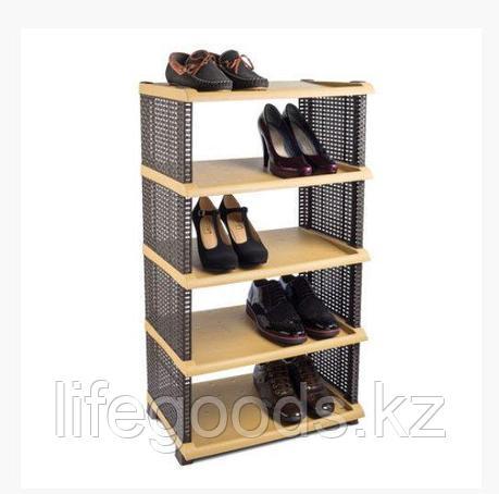 Этажерка для обуви Rattan пластик 5 полок, Tuffex TP7011, фото 2